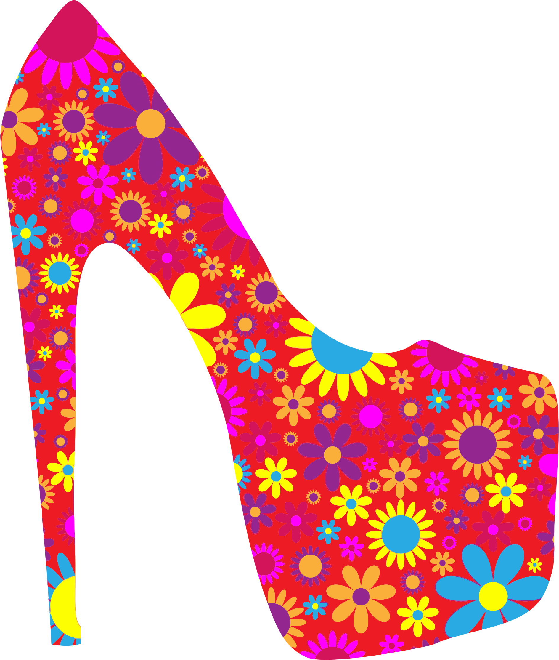 Floral shoe png. Retro icons free and