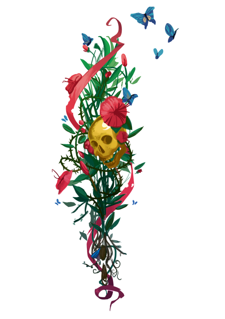 Floral tattoo png. Chloe s by stanleyht