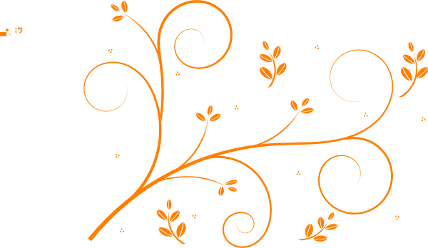 Floral vines png. Orange vine clip art