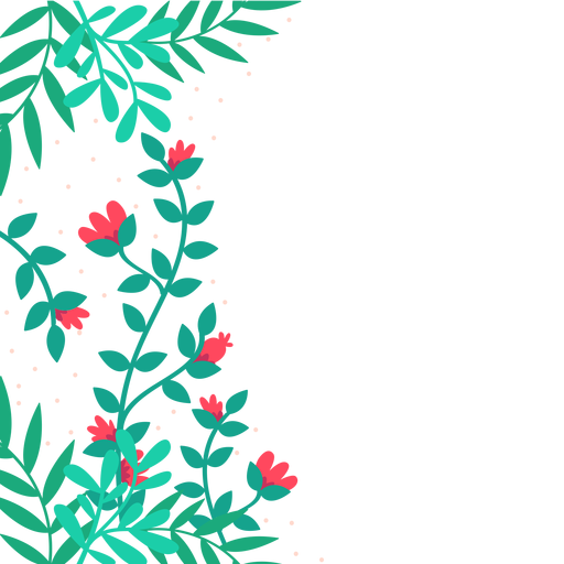 Floral vines png. Red flower background transparent