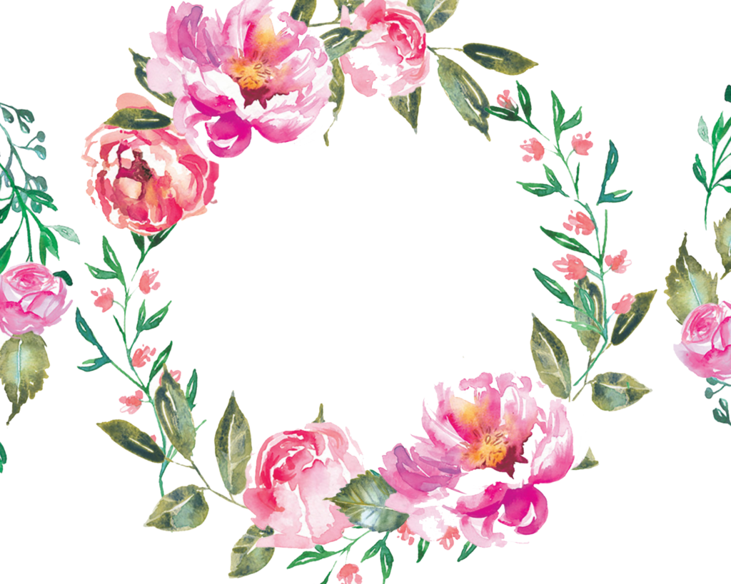 Floral wreath png. Free watercolor download vector