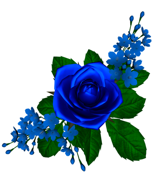 flores azules png