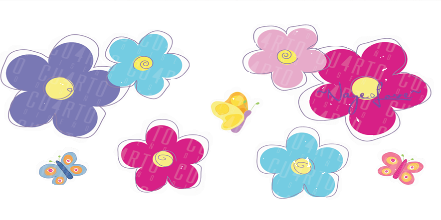 Flores png deviantart. De colores by nayeloveeditions