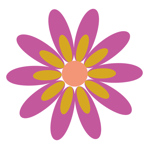 Flores png vector. Purple flower icon transparent