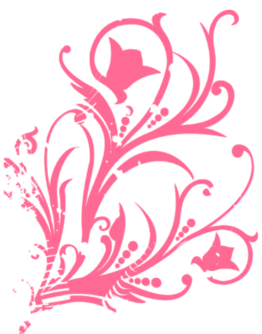 Flores rosas png. Brush de o color
