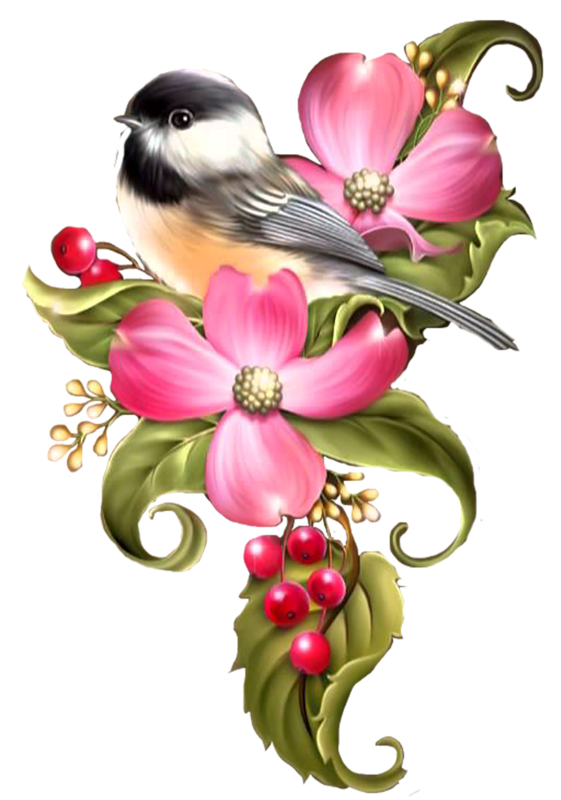 Flores y pajaritos vintage png. Oiseaux birds wallpapers and