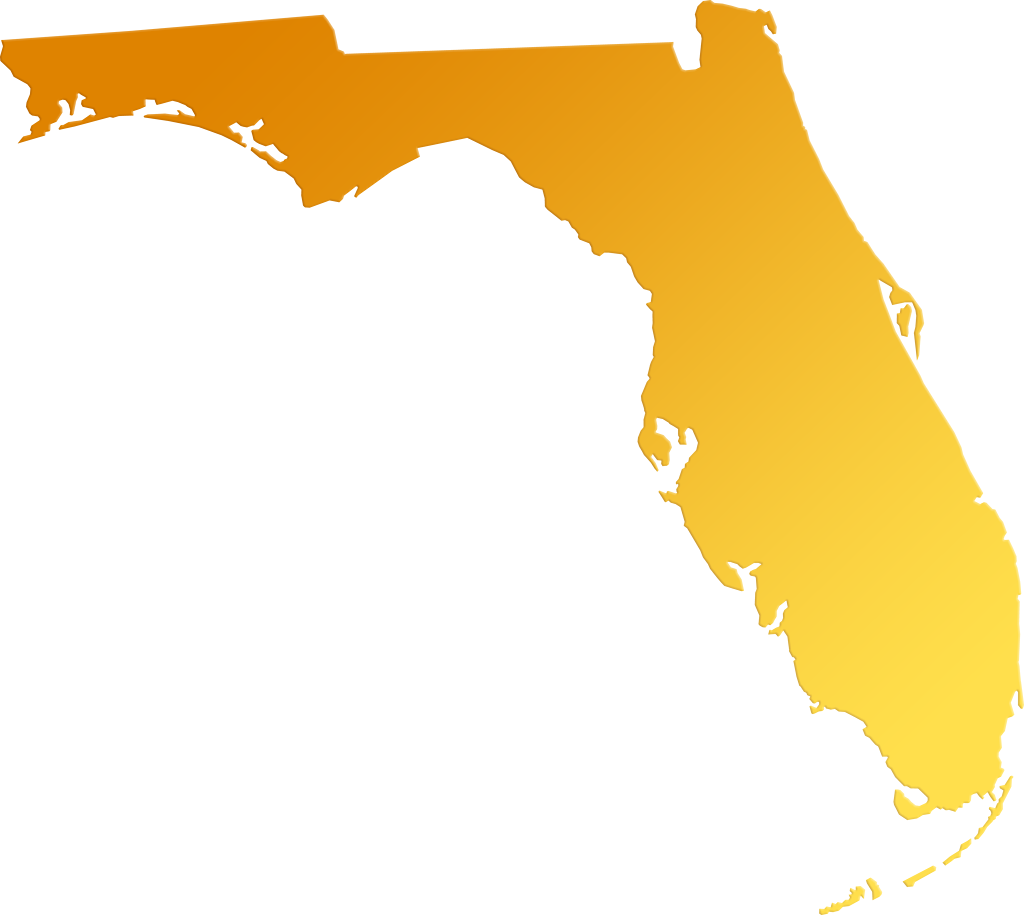 Florida map outline png. Abstract style maps yellow