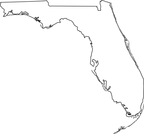 florida state outline png