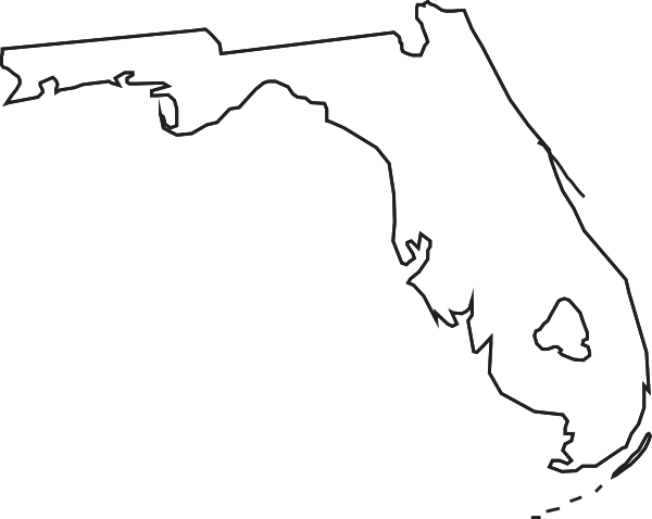 Florida silhouette png. Outline clip art at