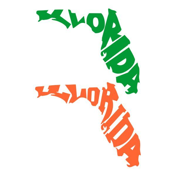 Florida clipart file. State cuttable design cut