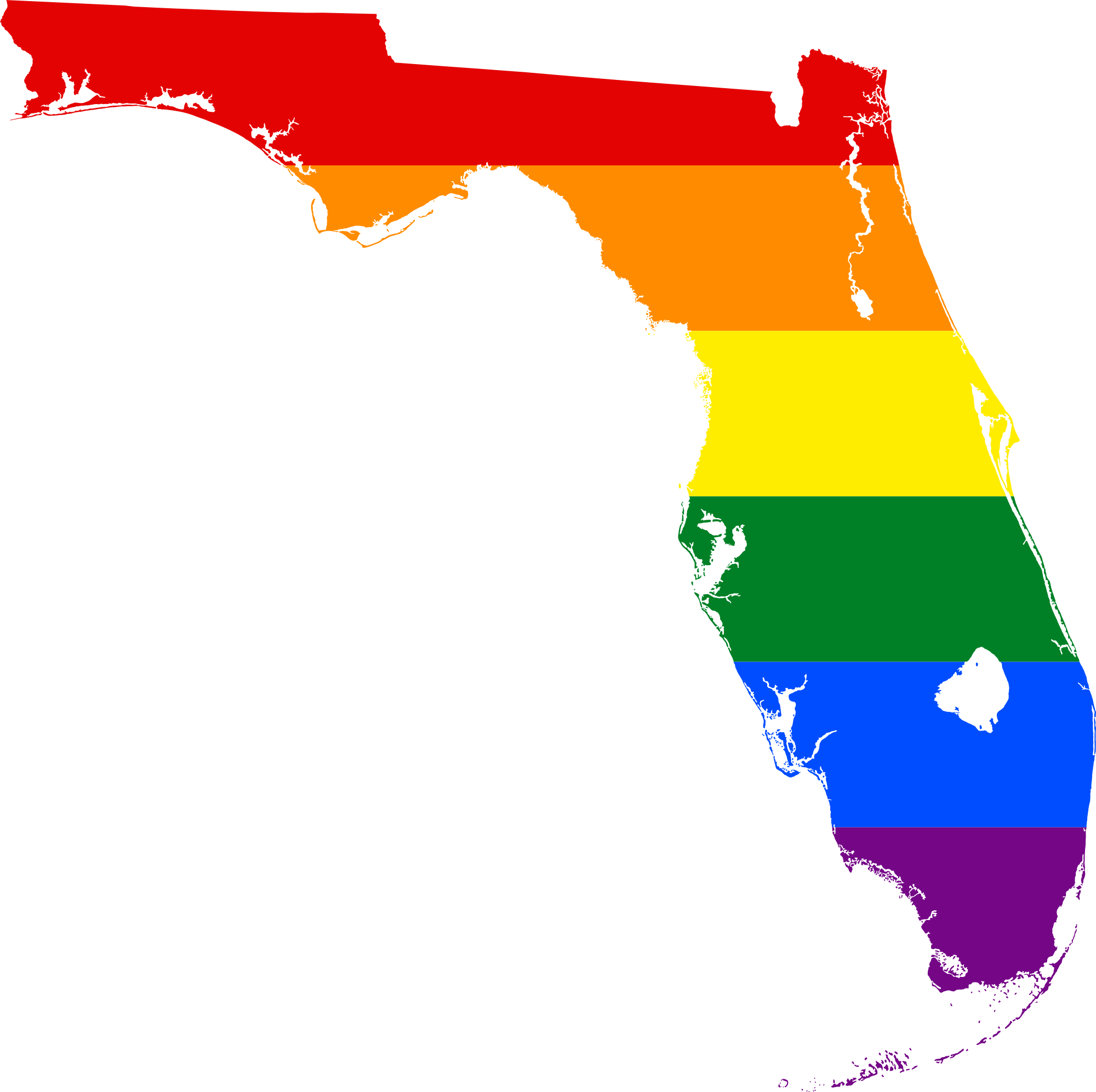 Florida png. Image lgbt flag map