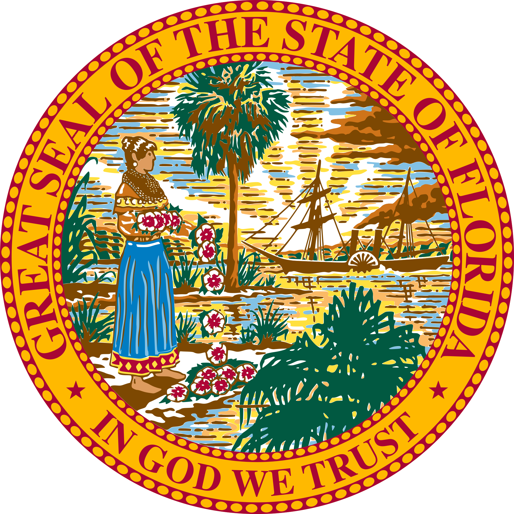 Florida seal png. Of wikipedia