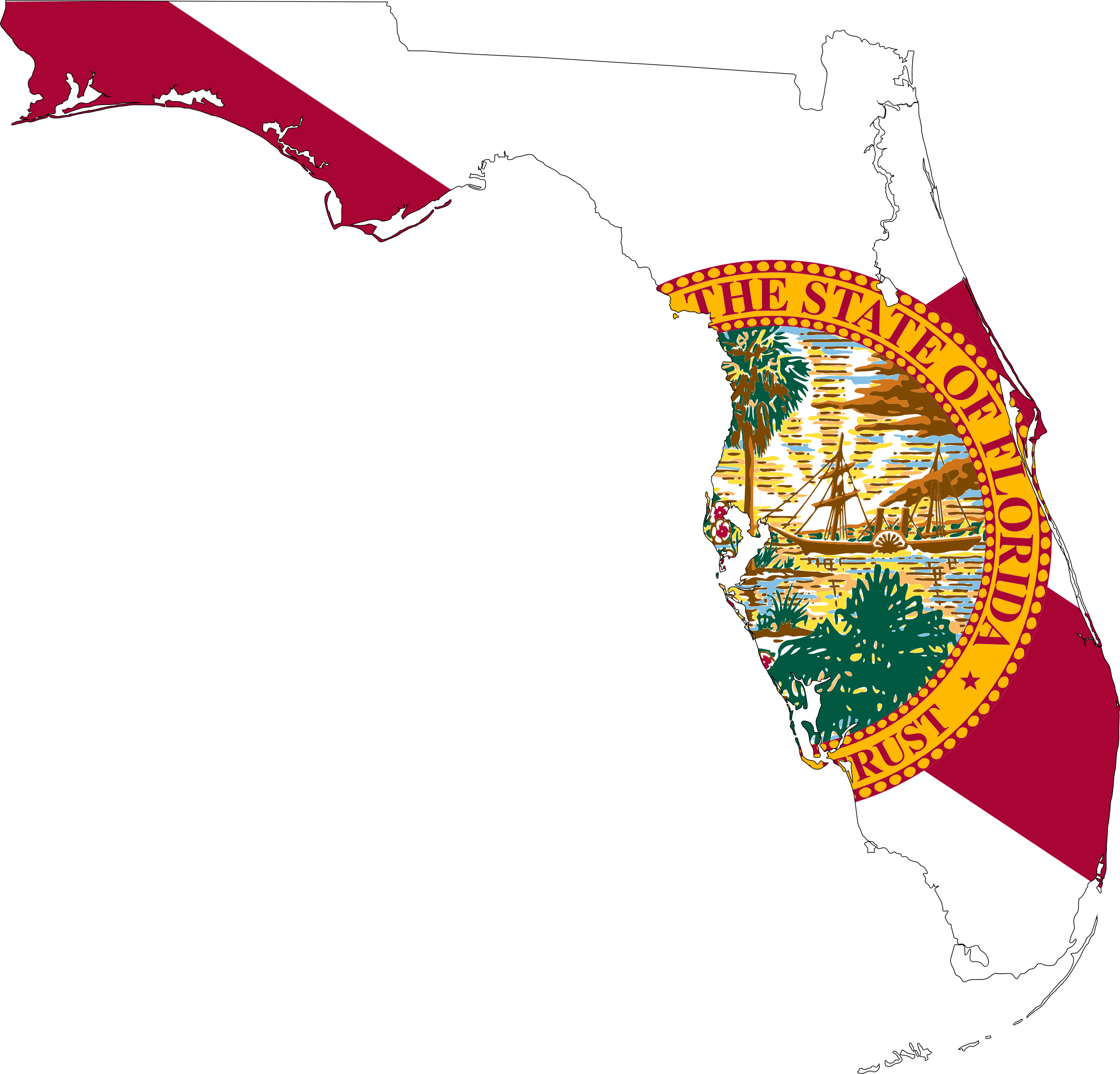 Florida map png. Flag icons free and