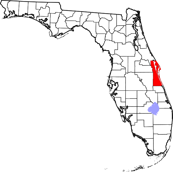 Florida map outline png. File of highlighting brevard