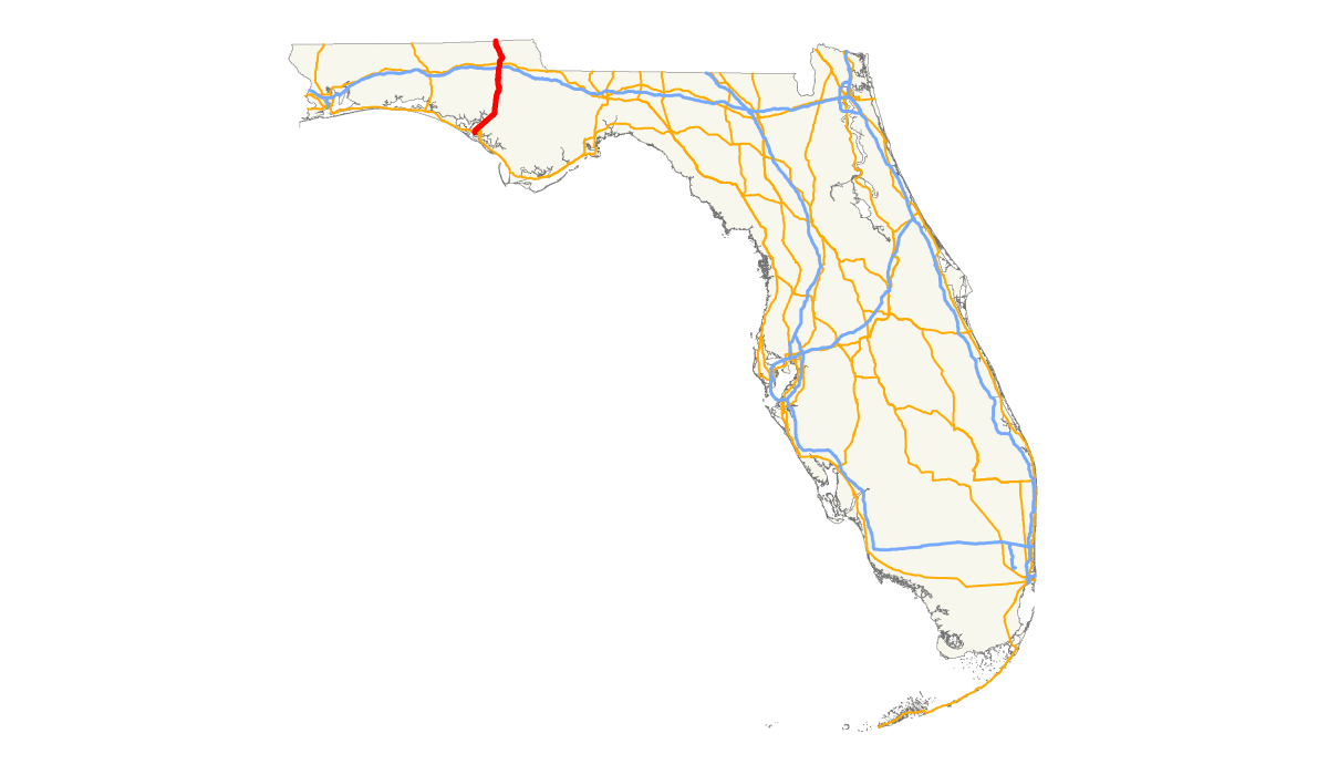 Florida map outline png. U s route in