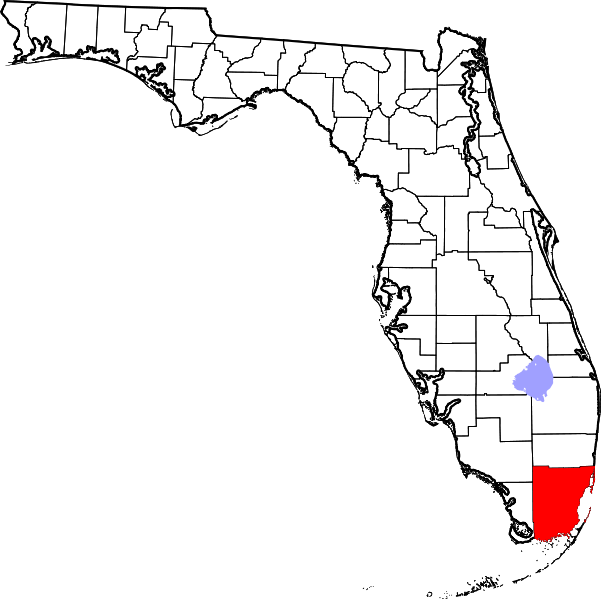 Florida map outline png. File of highlighting miami