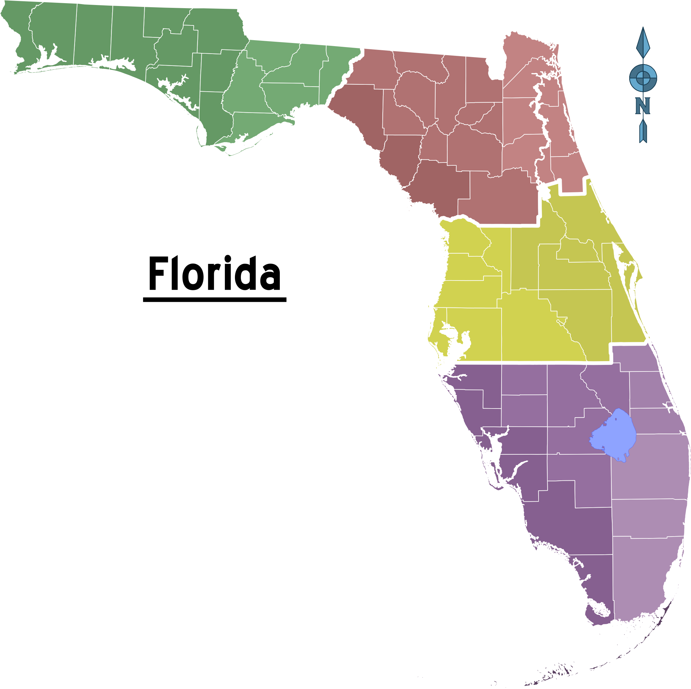 Florida map png. File of regions wikimedia