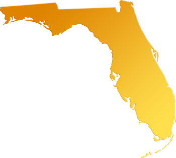 Florida png. Abstract style maps yellow