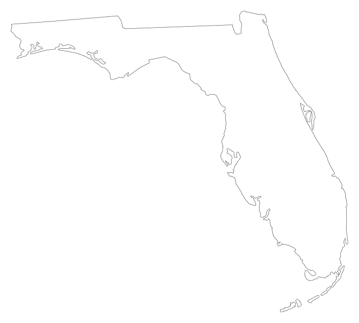 Plain frame style maps. Florida png svg library library
