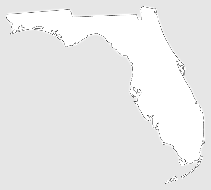 Florida silhouette png. Plain frame style maps