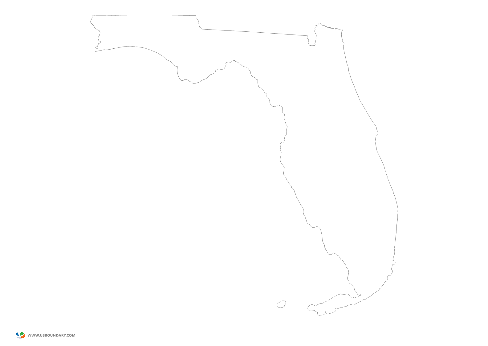 Florida state outline png. Maps download map