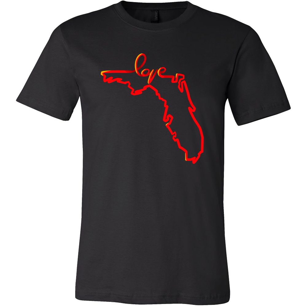 Florida state outline png. Love map souvenir gift