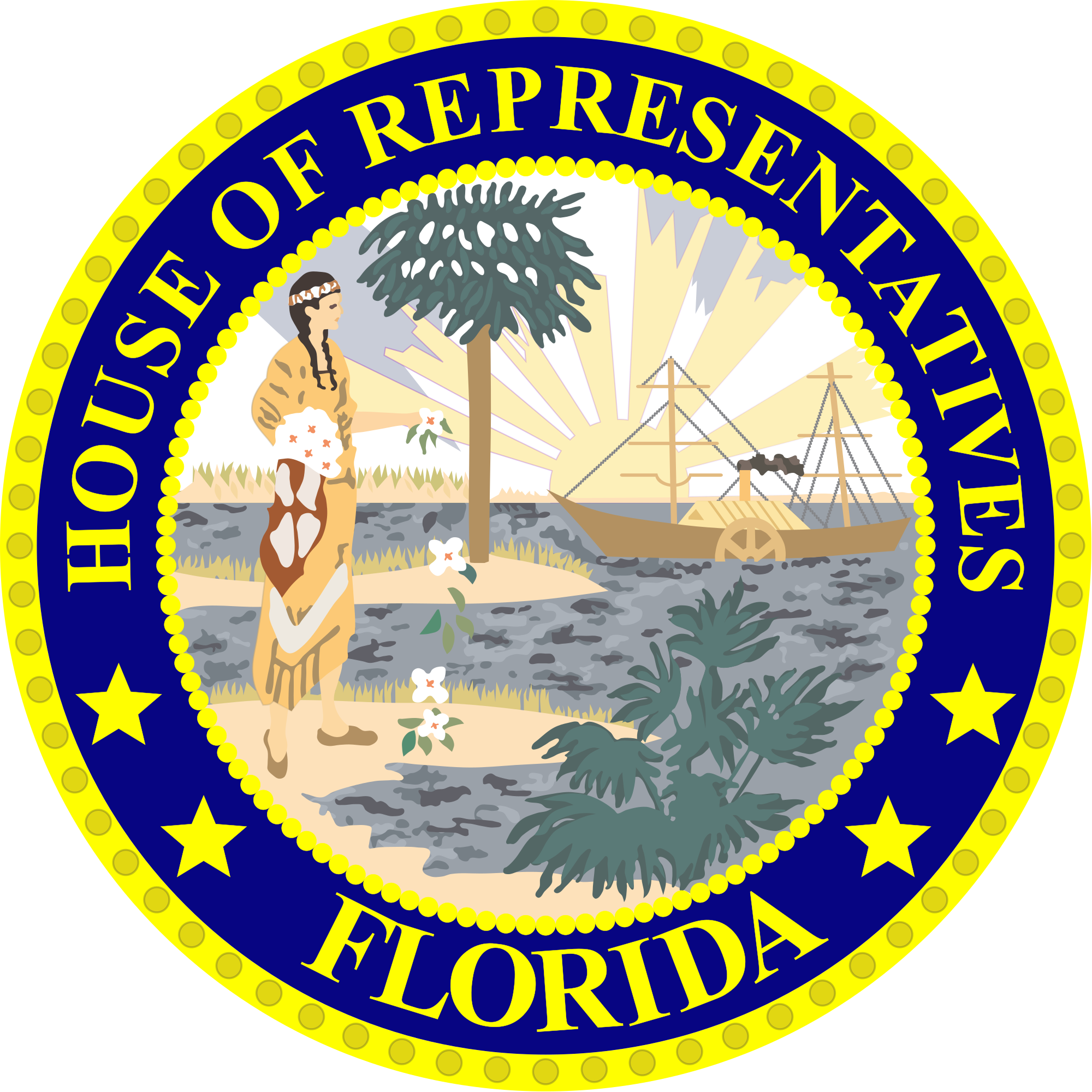 Florida state seal png. File house svg wikimedia