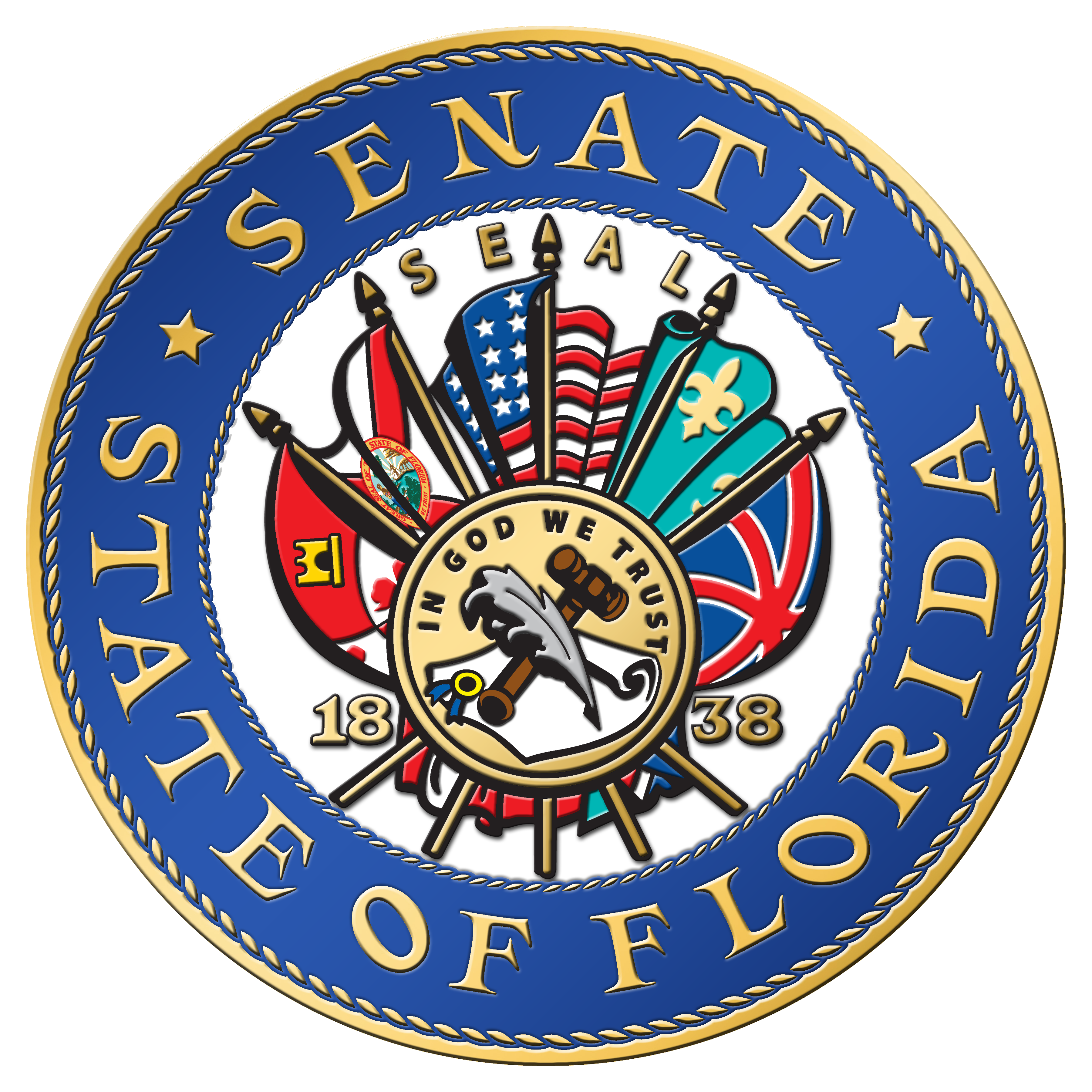 Florida state seal png. Senate to remove battle