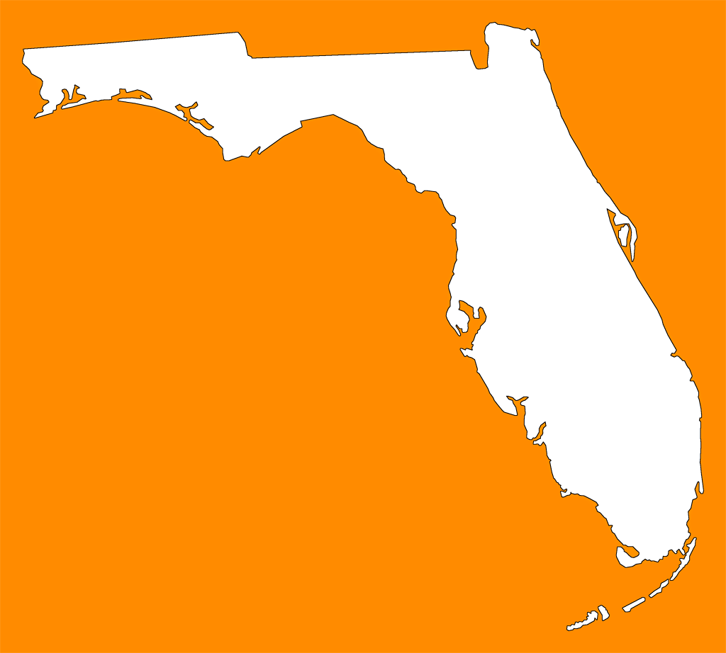 Florida transparent png. Plain frame style maps
