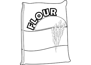 Flour clipart outline. Activities bag of b