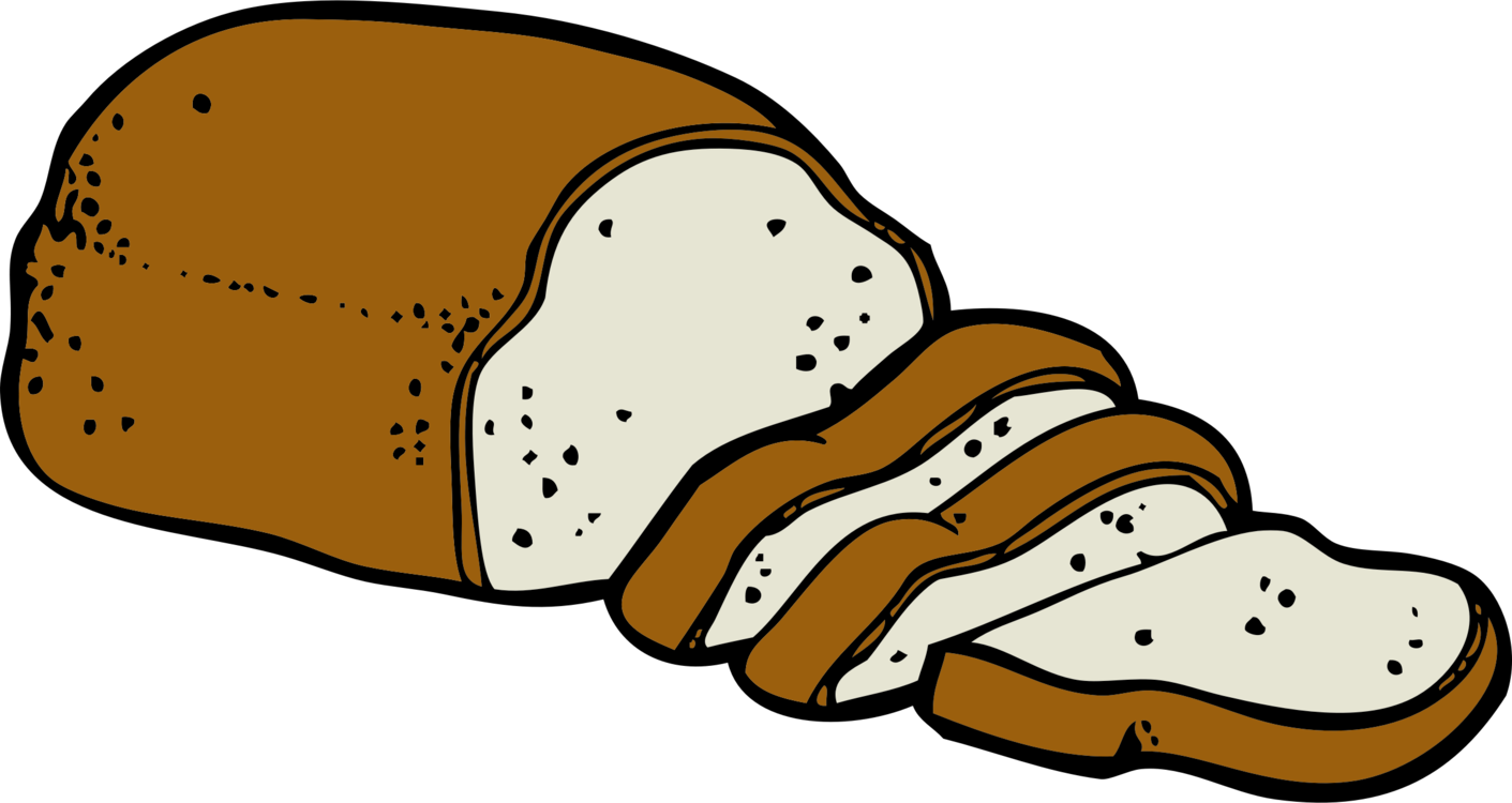 Loaf of clipart. White bread download sliced