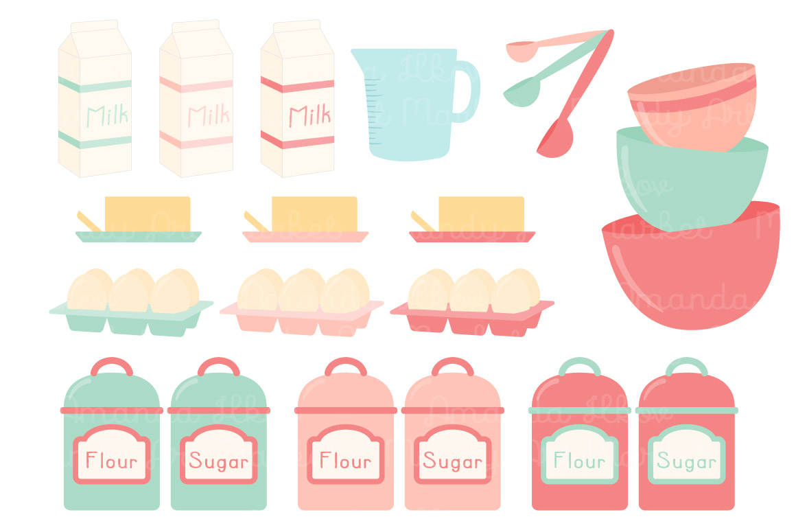 Flour clipart sugar act. Baking cooking cliparts vectors