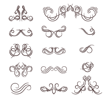Flourish border png images. Calligraphy vector flourishes svg library stock