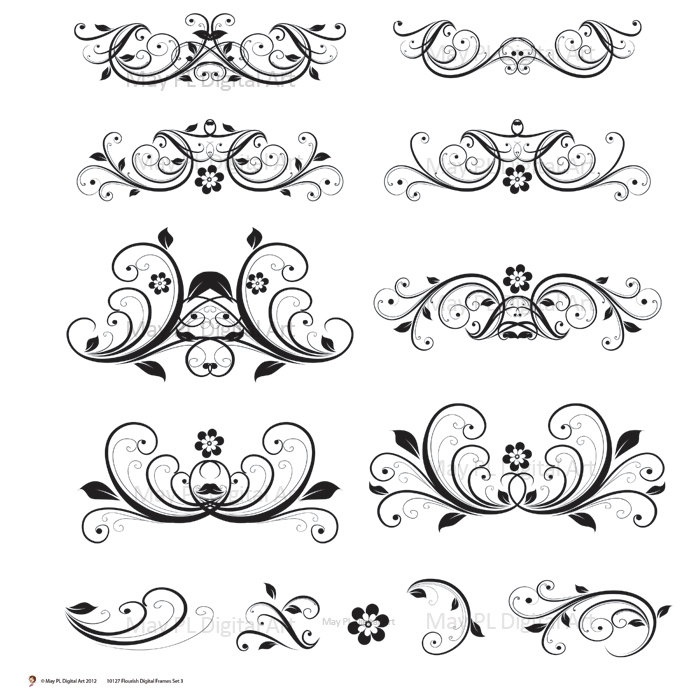 Invitation clipart elegant invitation. Wedding flourishes uc info