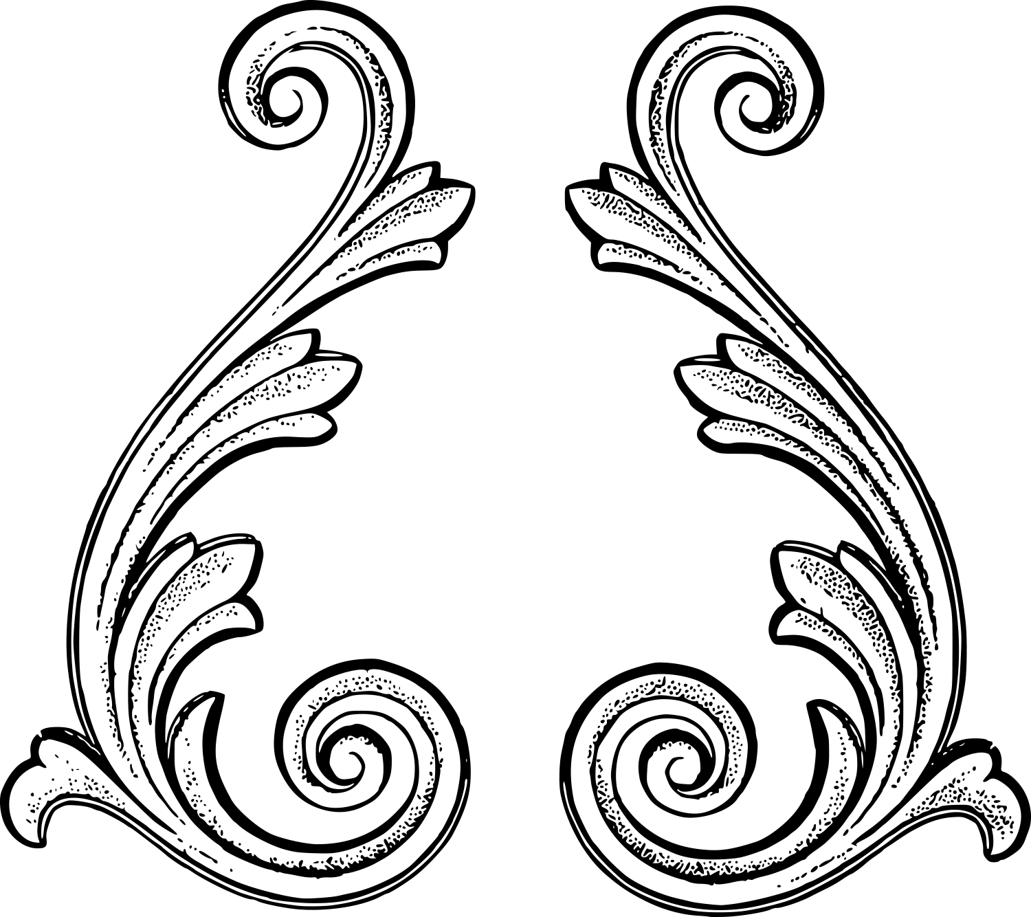 Free flourish png. Royalty vintage art