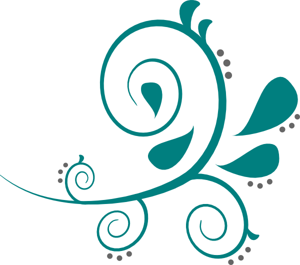 Flourish png transparent. Teal clip art at