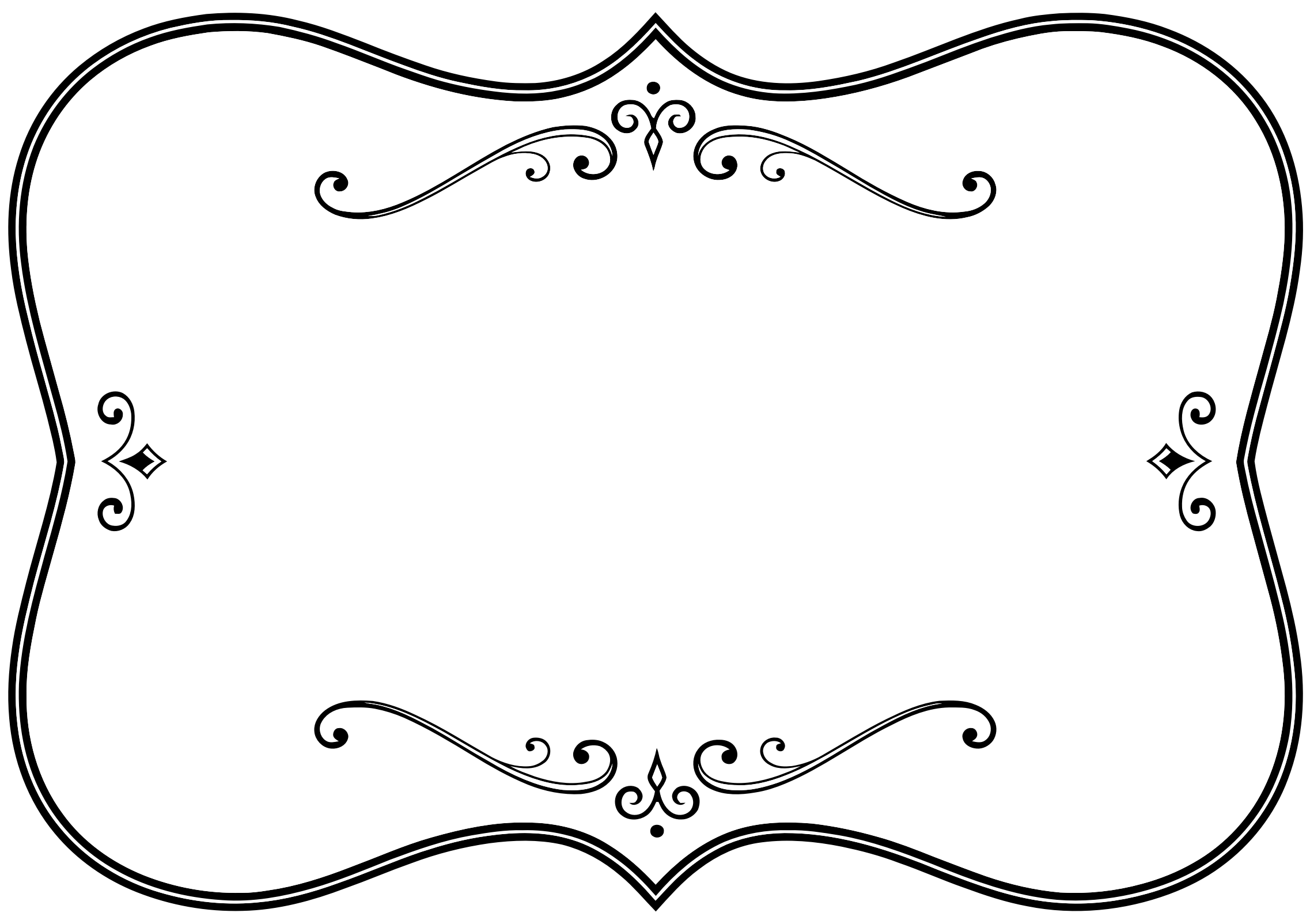 Flourishes clipart frame. Decorative black and white