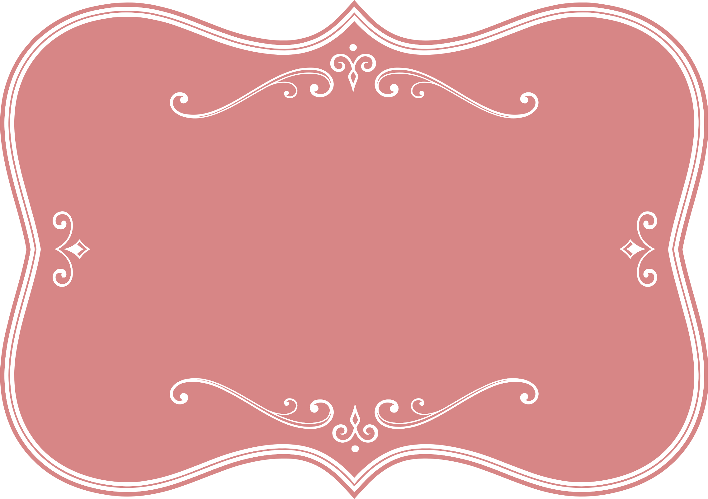 Flourishes clipart frame. Decorative pink flourish icons