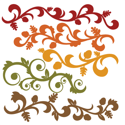 Flourishes svg calligraphy scroll. Fall flourish set cutting