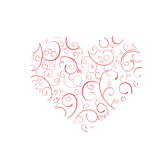 Flourishes svg vector. Heart made of sticker