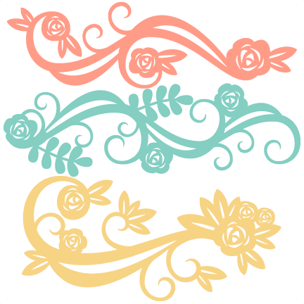 Flourishes svg vine. Flower scrapbook cut file