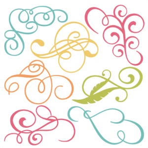 Flourishes svg. Cut files flourish free