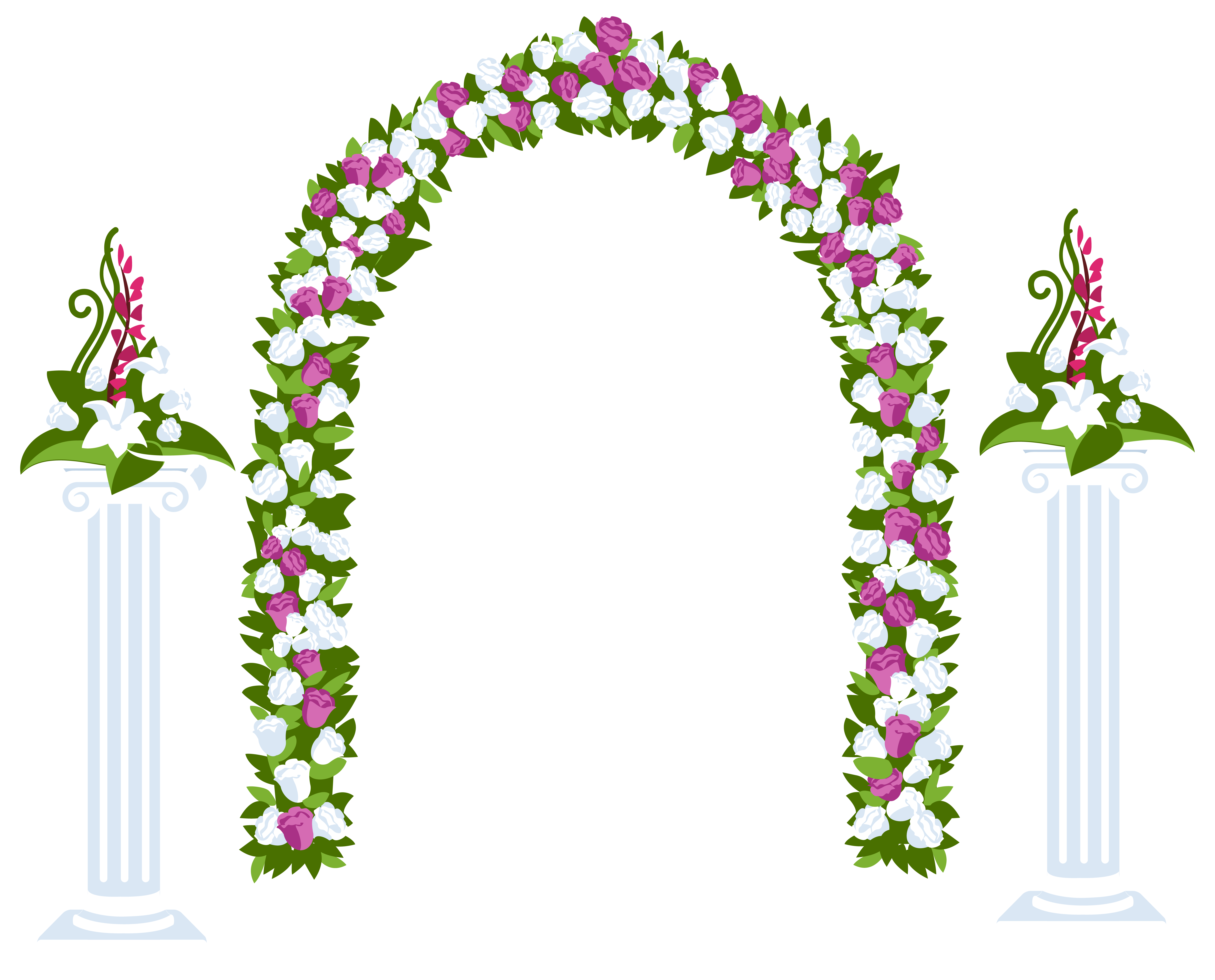 Flower arch png. Floral and columns best