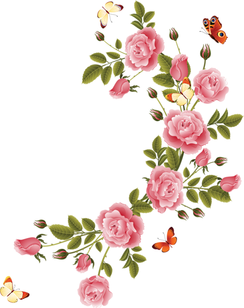 Pink floral png. Aa ce d