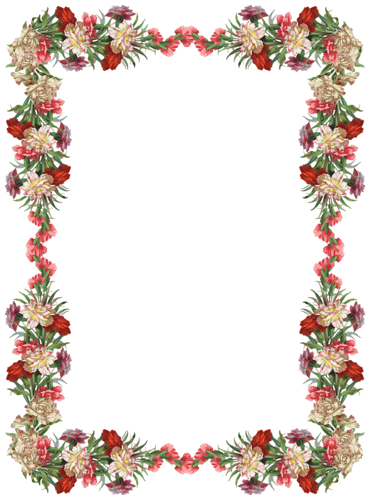 Free digital and border. Vintage flower frame png clip royalty free library