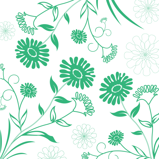Flower background png images. Romantic flowers aqua floral