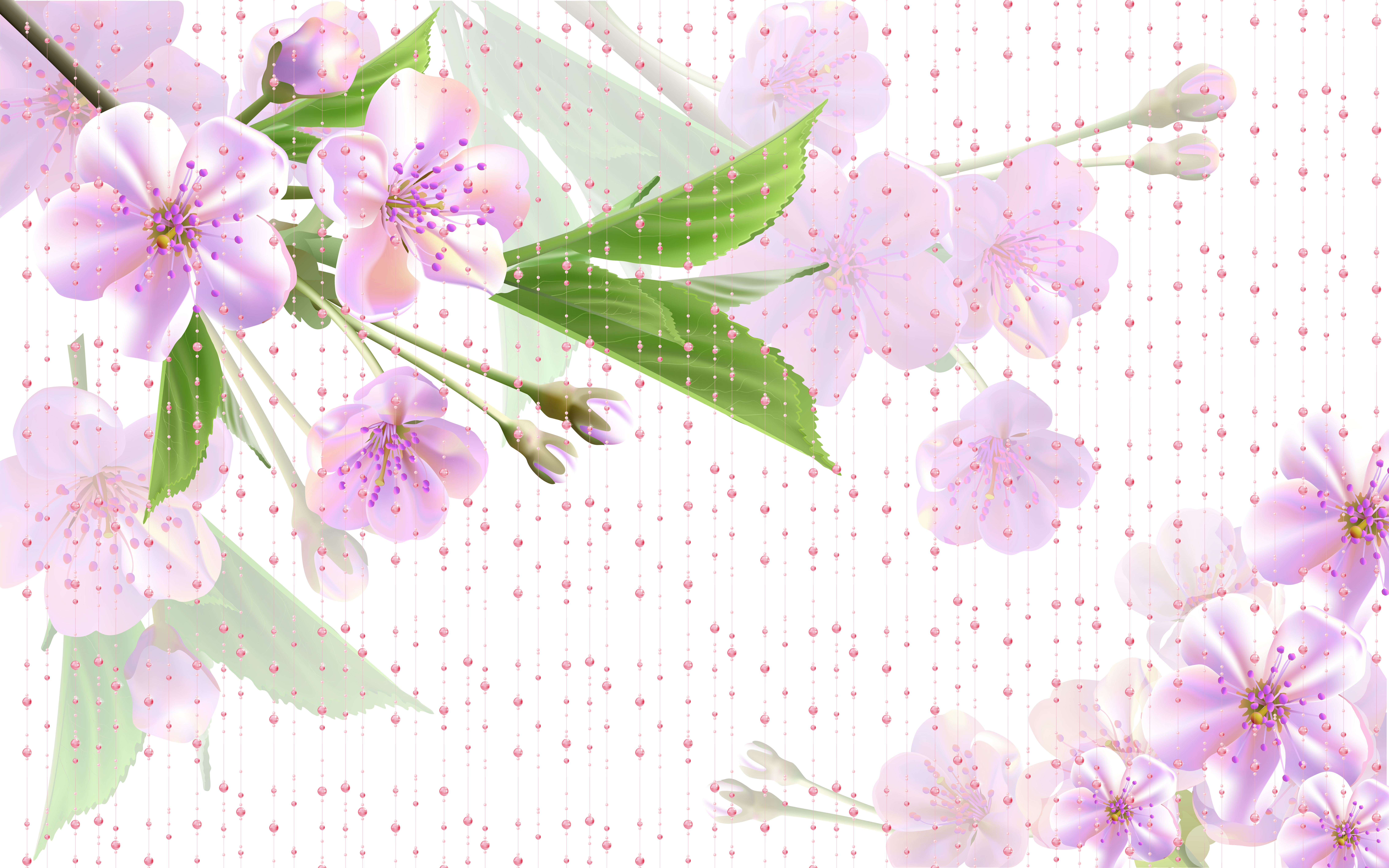 Flower background png images. Pink fantasy flowers transprent