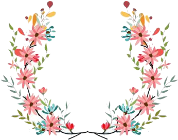 Lily transparent flower crown. Download png pictures banner