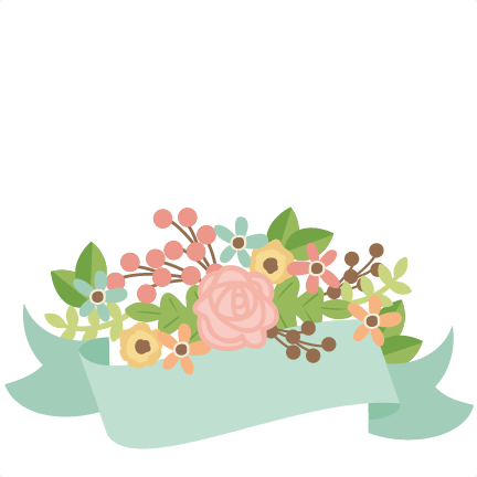 Flower banner png. With flowers svg scrapbook
