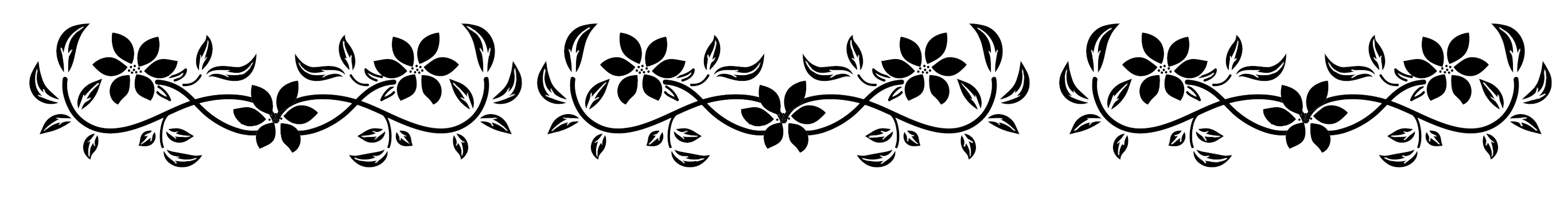 Flower border black and white png. Borders frames a